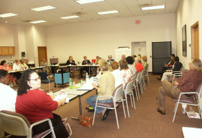 Photo: Child Support Professionals from Wisconsin, Illinois and Indiana meet to discuss common goals.